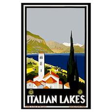 Italian Lakes vintage travel poster Poster