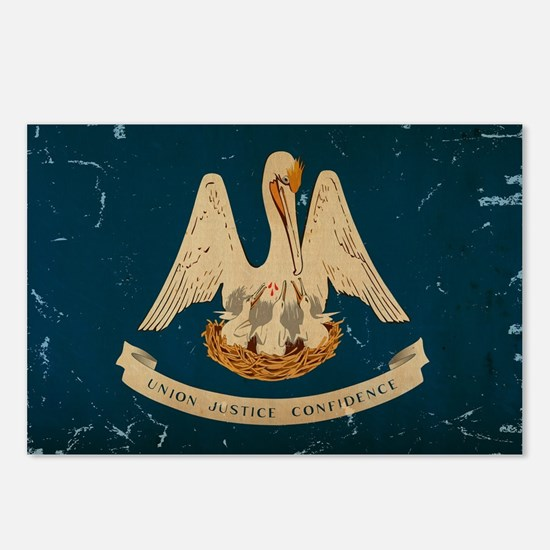Louisiana State Flag VINTAGE Postcards (Package of