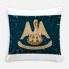 Louisiana State Flag VINTAGE Everyday Pillow