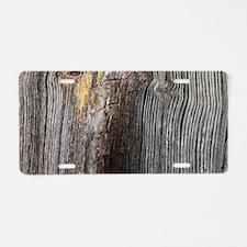 rustic primitive grey barn Aluminum License Plate