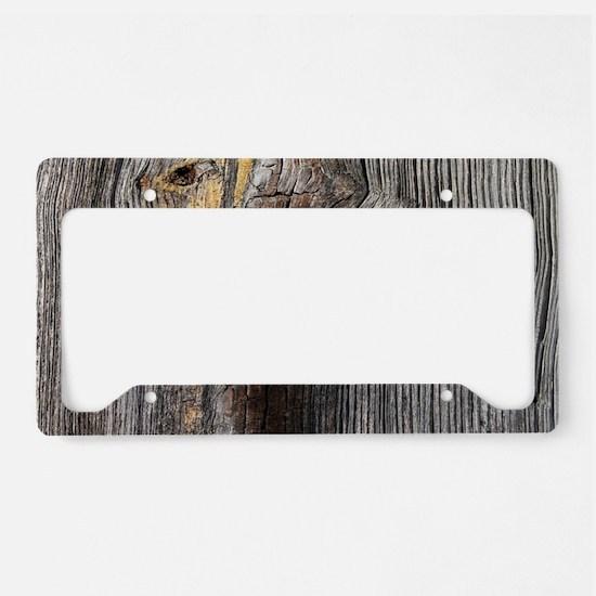 rustic primitive grey barn wo License Plate Holder