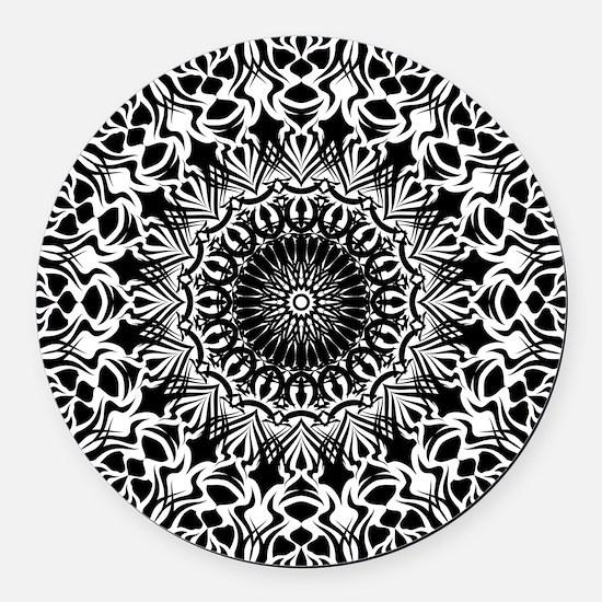 Tribal Mandala Round Car Magnet