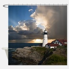 Country Lighthouse Shower Curtain