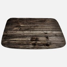 rustic primitive grey barn wood Bathmat