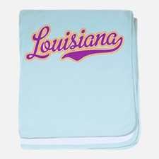 Louisiana Royal Purple and Gold-01 baby blanket