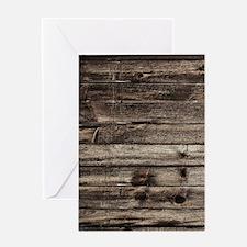 rustic primitive grey barn wood Greeting Cards