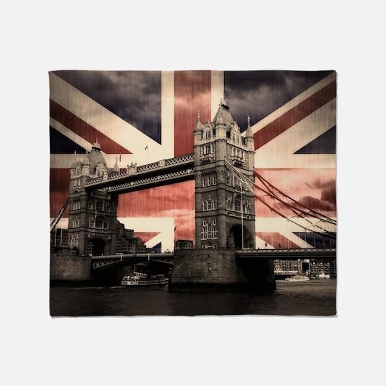 Union Jack London Throw Blanket