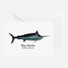 Blue Marlin Greeting Cards