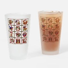 12 Days Of Christmas Drinking Glass