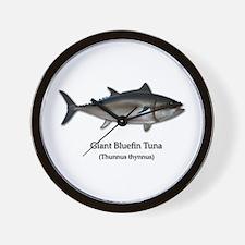 Bluefin Tuna Wall Clock