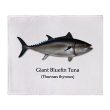 Bluefin Tuna Throw Blanket