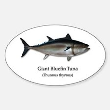 Bluefin Tuna Sticker (Oval)