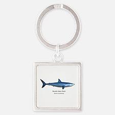 Mako Shark Square Keychain