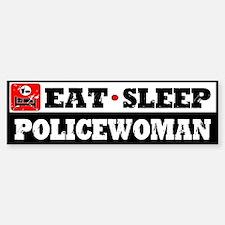 Policewoman Bumper Bumper Sticker