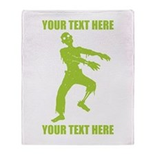 Personalized Zombie Throw Blanket