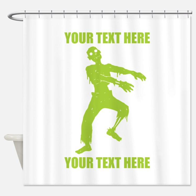 Personalized Zombie Shower Curtain