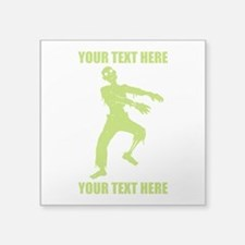 "Personalized Zombie Square Sticker 3"" x 3"""