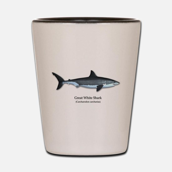 Great White Shark Shot Glass