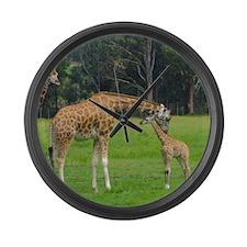 Baby Giraffe Large Wall Clock