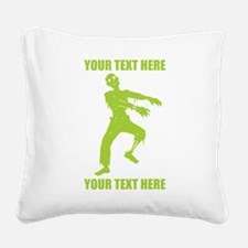 PERSONALIZED Zombie Square Canvas Pillow