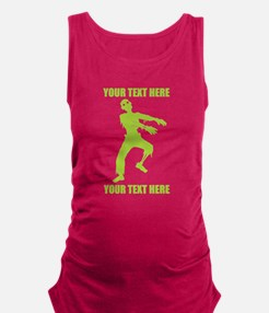 PERSONALIZED Zombie Maternity Tank Top