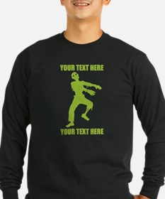 PERSONALIZED Zombie Long Sleeve T-Shirt