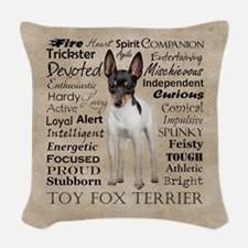 Toy Fox Terrier Traits Woven Throw Pillow