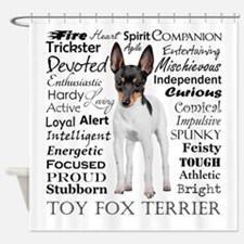Toy Fox Terrier Traits Shower Curtain