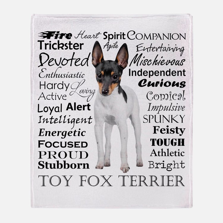 Toy Fox Terrier Traits Throw Blanket