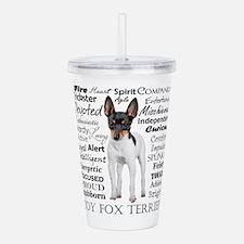 Toy Fox Terrier Traits Acrylic Double-wall Tumbler