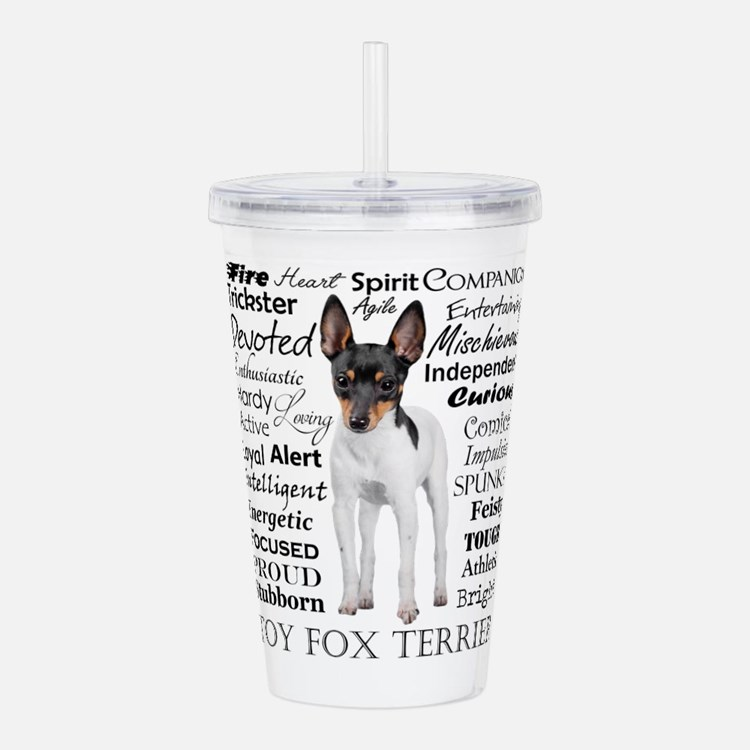 Toy Fox Terrier Traits Acrylic Double-wall Tumbler