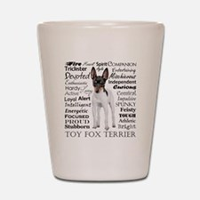 Toy Fox Terrier Traits Shot Glass