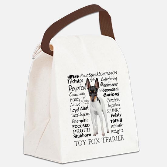 Toy Fox Terrier Traits Canvas Lunch Bag