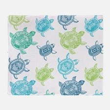 Blue and Green Turtles Throw Blanket