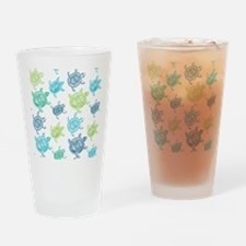 Blue and Green Turtles Drinking Glass