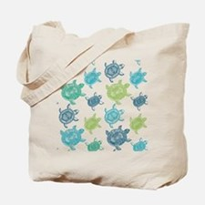 Blue and Green Turtles Tote Bag