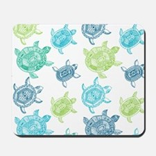 Blue and Green Turtles Mousepad