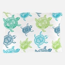 Blue and Green Turtles Pillow Case