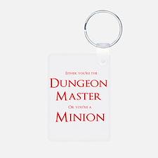 Dungeon Master or Minion Aluminum Photo Keychain