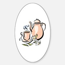 Cute Drinking cup Sticker (Oval)
