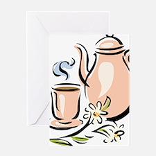 Cute Tea cup Greeting Card