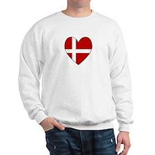 Danish Flag Heart Sweatshirt