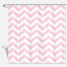 Baby Girl Pink Chevron Pattern Shower Curtain