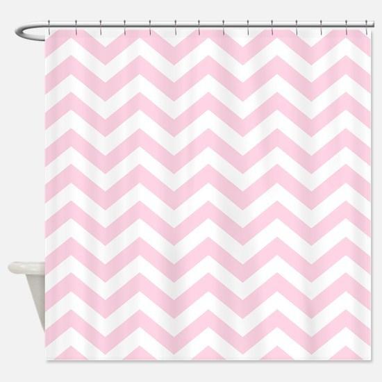 Pink, Baby: Chevron Pattern Shower Curtain