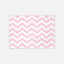 Pink, Baby: Chevron Pattern 5'x7'Area Rug