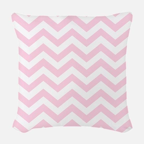 Pink, Baby: Chevron Pattern Woven Throw Pillow