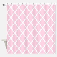 Baby Girl Pink Moroccan Pattern Shower Curtain