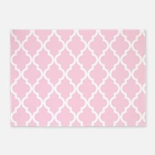 Baby Girl Pink Moroccan Pattern 5'x7'Area Rug