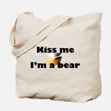 Kiss Me I'm A Bear & Bear Pri Tote Bag