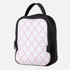 Pink, Baby: Quatrefoil Moroccan Neoprene Lunch Bag